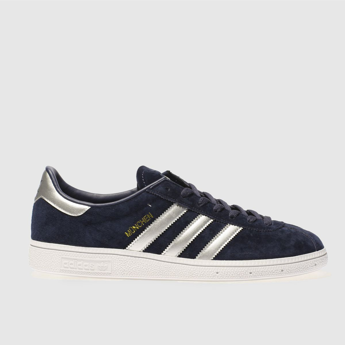 Adidas Navy & Silver Munchen Trainers