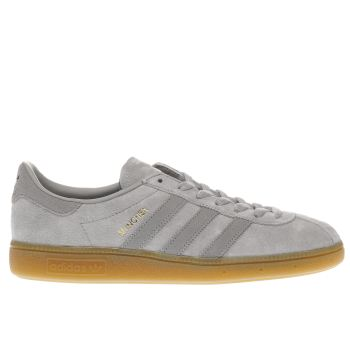 Adidas Light Grey Munchen Trainers