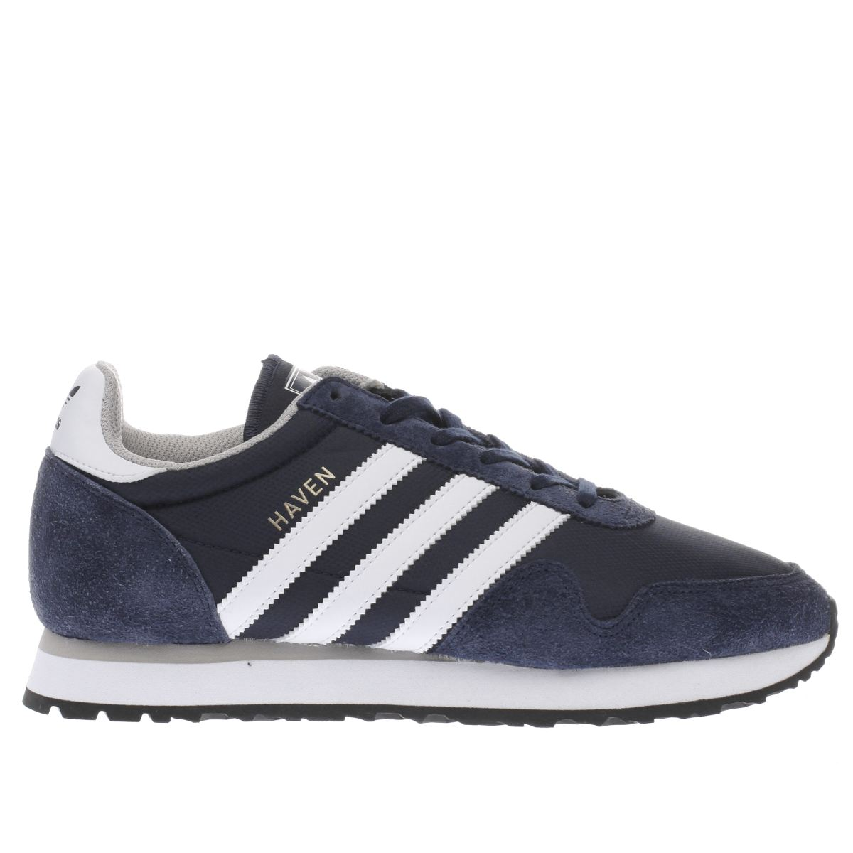 adidas navy & white haven trainers
