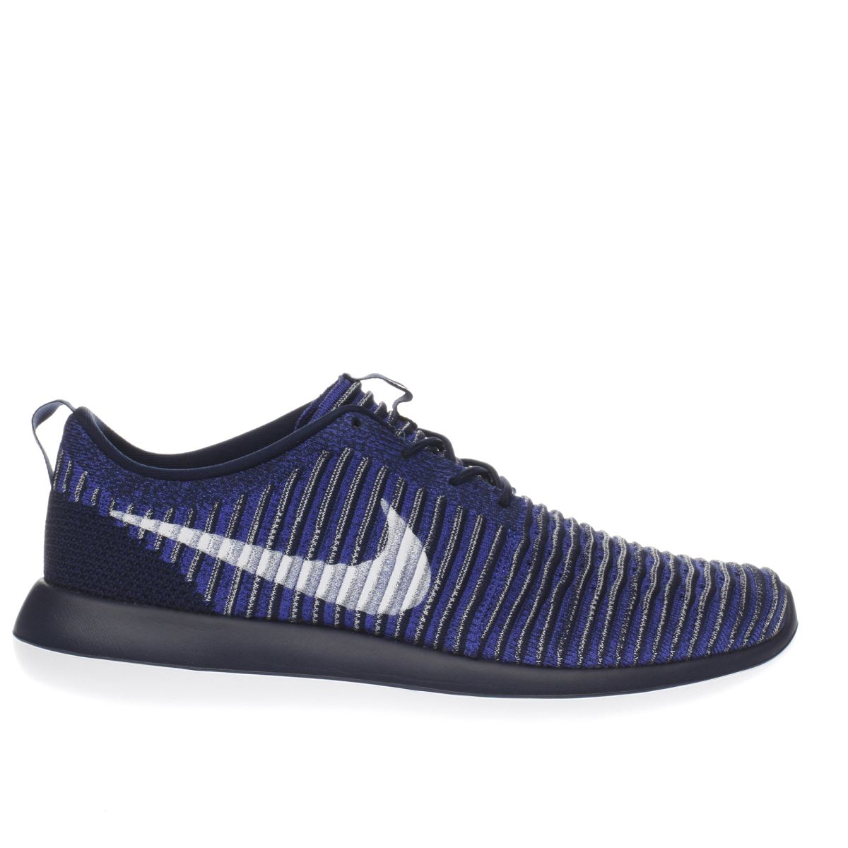 nike navy & white roshe two flyknit trainers