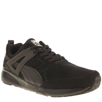 Mens Puma Black Aril Suede Trainers