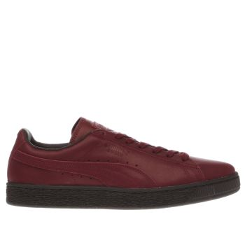 Puma Burgundy Suede Winter Tech Mens Trainers