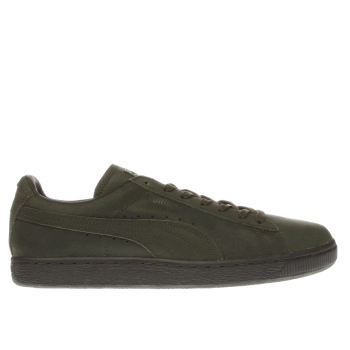 Puma Dark Green Suede Winter Tech Mens Trainers