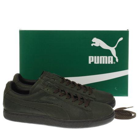 dark green puma shoes
