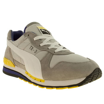 mens puma light grey tx-3 trainers