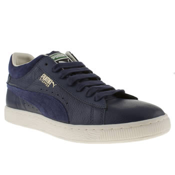 mens puma blue stepper city trainers