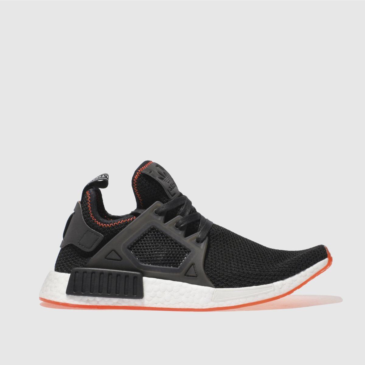 adidas black & orange nmd_xr1 trainers