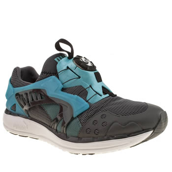 mens puma grey future disc trainers