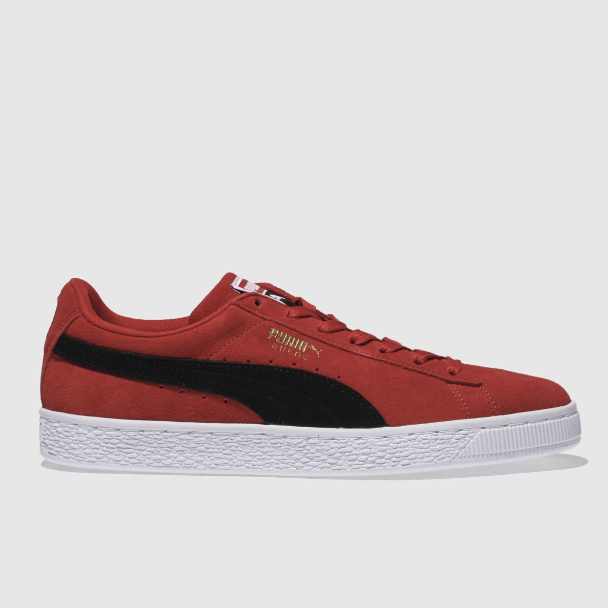 Puma Red Suede Classic Trainers