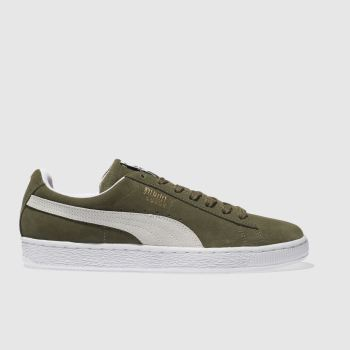 Mens Puma Green Suede Classic Trainers