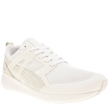 Mens Puma White Arial Evolution Trainers