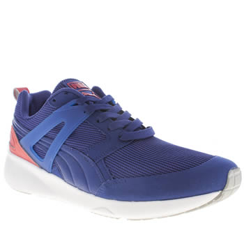 Mens Puma Blue Aril Evolution Trainers