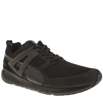 Mens Puma Black Aril Evolution Trainers