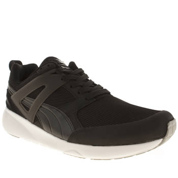 Mens Puma Black & White Aril Evolution Trainers