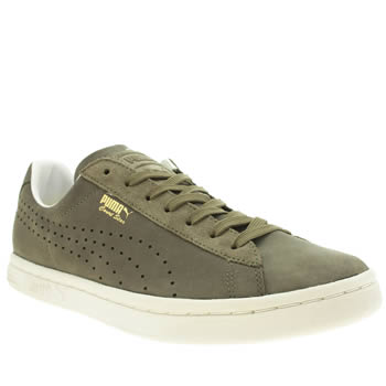 Mens Puma Dark Green Court Star Citi Series Trainers