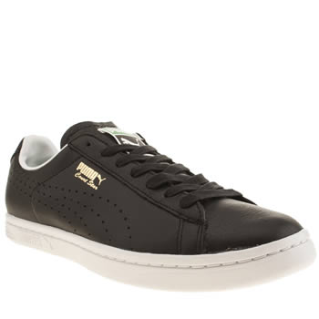 Mens Puma Black & White Court Star Trainers