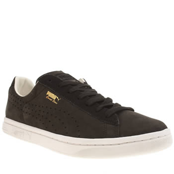 Mens Puma Black & White Court Star Citi Series Trainers