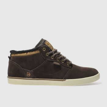Etnies Brown Jefferson Mid Mens Trainers