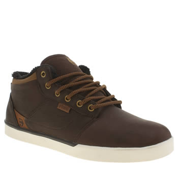 Etnies Dark Brown Jefferson Mid Trainers