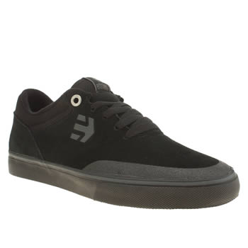 Mens Etnies Black Marana Vulc Trainers