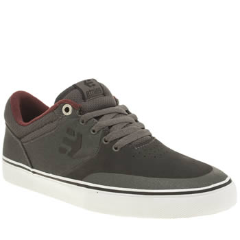 Mens Etnies Dark Grey Marana Vulc Trainers