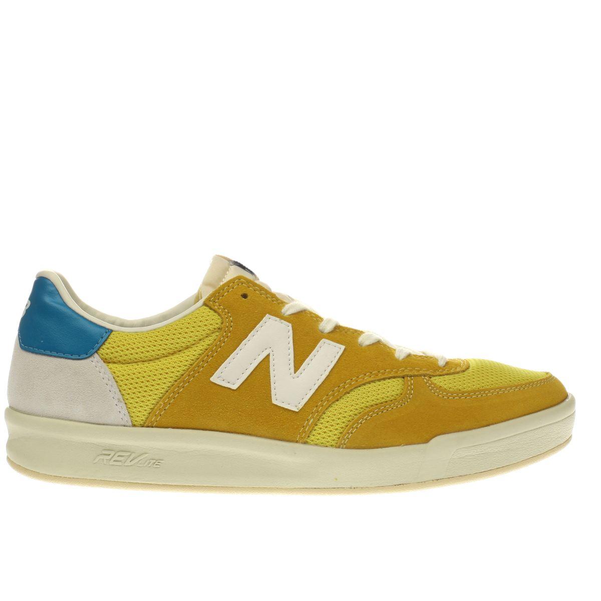 new balance yellow 300 trainers