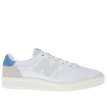 New Balance White & Blue 300 Trainers