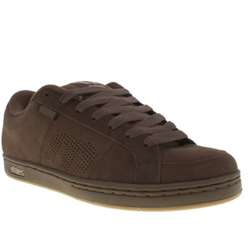 Mens Etnies Dark Brown Kingpin Trainers