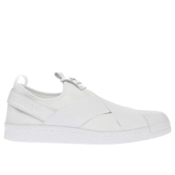 Adidas White Superstar Slip Trainers