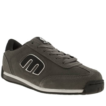 mens etnies grey lo-cut ii trainers