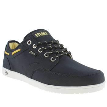 Mens Etnies Navy & White Dory Trainers