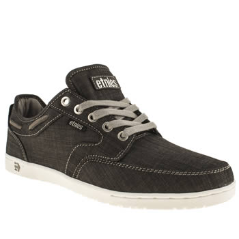 mens etnies black & grey dory trainers