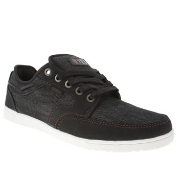 mens etnies black & white dory trainers