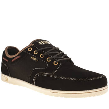 Mens Etnies Black & Gold Dory Trainers