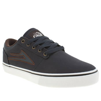 Mens Lakai Navy Brea Trainers