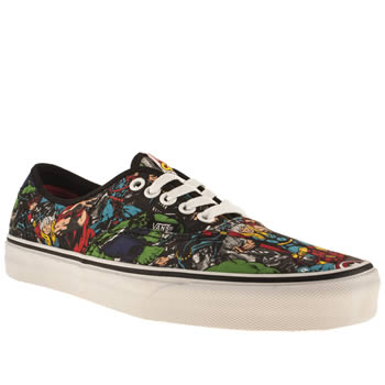 mens vans multi authentic marvel avengers trainers