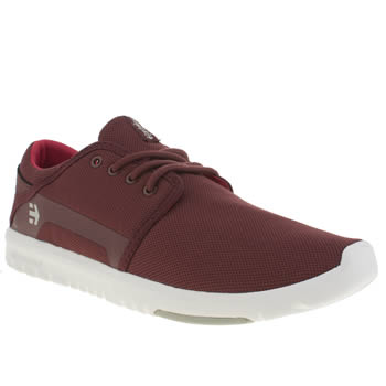 Etnies Burgundy Scout Mens Trainers