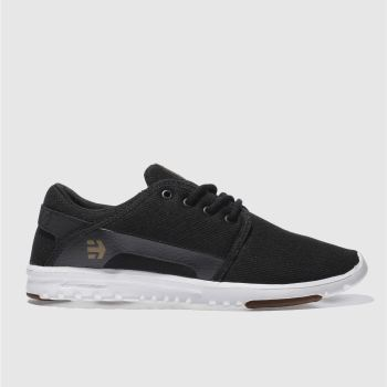 Mens Etnies Black Scout Trainers