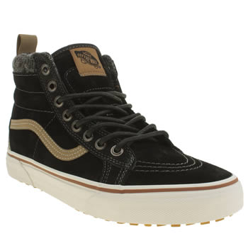 Mens Vans Black Sk8-hi Mountain Edition Trainers