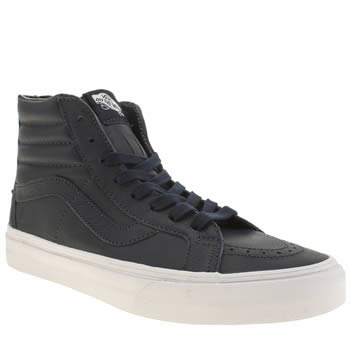 Vans Navy & White Sk8-hi Reissue Zip Trainers