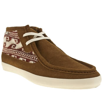 mens vans tan rata mid trainers