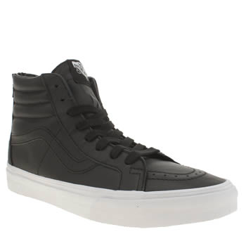 Vans Black & White Sk8-hi Reissue Zip Trainers