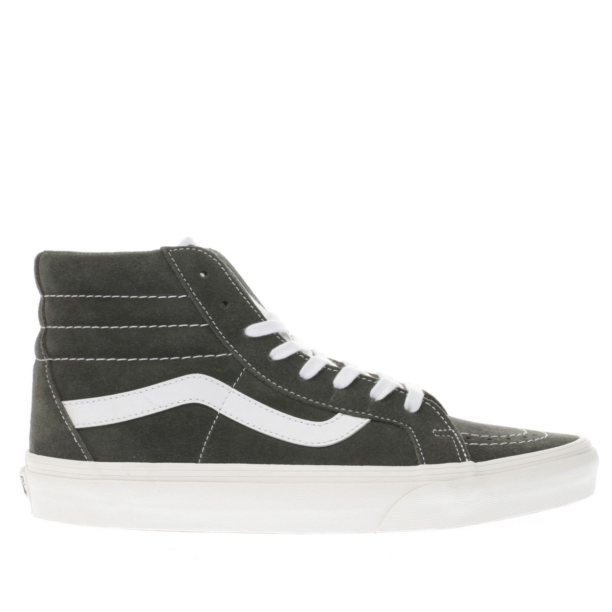 vans dark grey sk8-hi reissue trainers