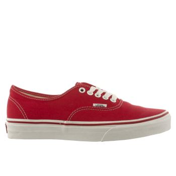 Mens Vans Red Authentic Trainers
