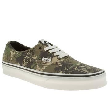 mens vans khaki authentic star wars boba trainers