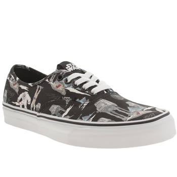 Mens Vans Black & Grey Authentic Star Wars Trainers