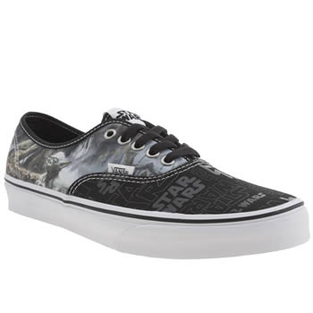 Mens Vans Black & Green Authentic Star Wars Trainers