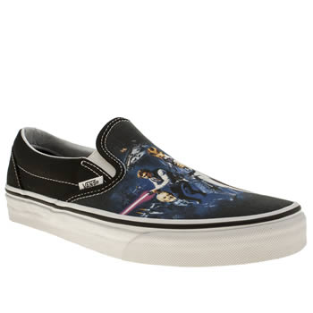 mens vans navy classic slip-on star wars trainers