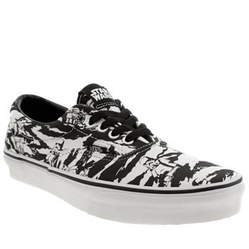 Mens Vans White & Black Era Star Wars Trainers