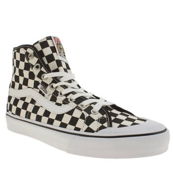 Vans White & Black Black Ball Hi Sf Trainers